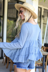 Knit Tiered Babydoll Top from Dress Up Back View