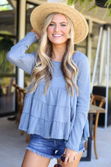 Knit Tiered Babydoll Top from Dress Up