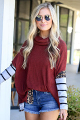 Cowl Neck Statement Sleeve Pullover from Dress Up