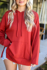 Red - Fleece Lined Hoodie from Dress Up Boutique