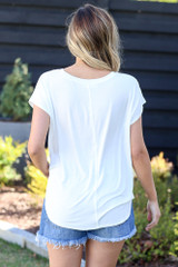 white oversized relaxed fit tee