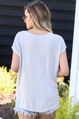 back view crew neck tee dress up boutique