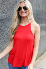 Red - Jersey Knit Cami Tank from Dress Up