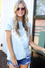Mint - relaxed fit tie-dye tee
