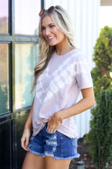 Lavender - side view tie-dye t-shirt at dress up