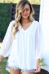 White - cute babydoll blouses at dress up