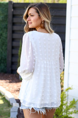 back view cute white blouses at shopdressup.com