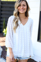 babydoll white blouses at dress up boutique