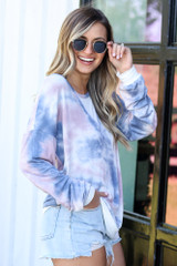 side view oversized tie-dye pullover