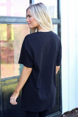 back view graphic t-shirt dress