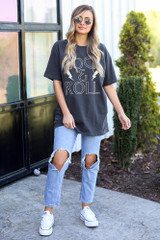 Charcoal - rock and roll graphic tee