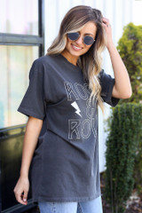 rock & roll graphic t-shirt