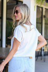 back view basic white tee at dressup