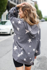Oversized Star Hoodie Back View
