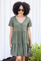 Olive - Tiered Babydoll Dress from Dress Up