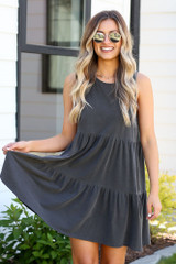 Charcoal - shop tiered dresses at dress up
