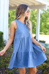 Walk With Me Tiered Swing Dress