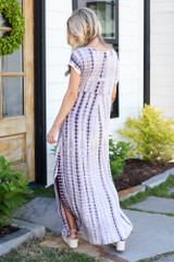 back view affordable tie-dye maxi dress
