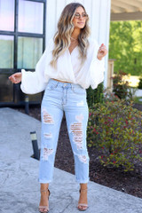 distressed mom jeans at shopdressup