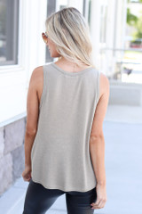 back view scoop neck tank