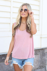 Blush - relaxed fit tank top