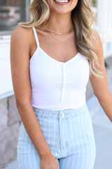 White - cute bodysuit at dress up