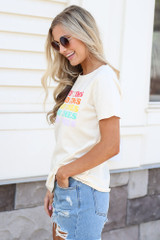 side view cute graphic tee