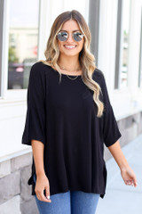 Black - oversized t-shirt at dress up