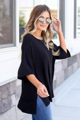 cute soft knit oversized tee at dress up