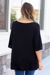 cute oversized tee in black