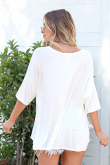 back view soft knit tee