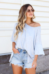Denim - oversized soft knit tee