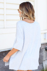 back view t-shirt in denim