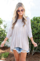 Blush - oversized soft knit tee