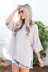 cute oversized t-shirt in blush