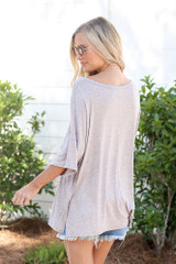 back view t-shirt in blush