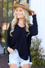Black - oversized top