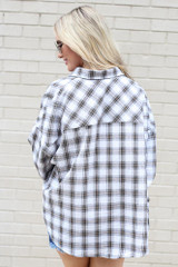 back view oversized flannel