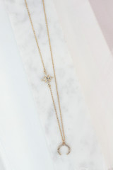 cute gold necklace at dress up
