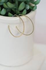 cute oval hoop earrings at dress up