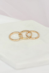 cute simple gold ring set