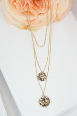 Gold - cute pendant layered necklace at dress up