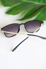 back view cute matte black sunglasses at dress up