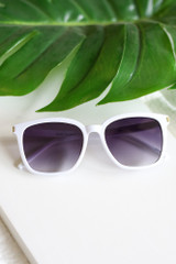 cute white sunglasses at dress up