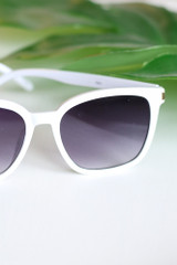 White - square sunglasses at dress up