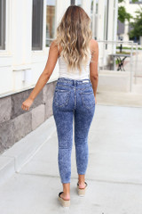 back view cute acid wash jeans at dress up