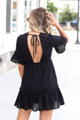 Black - Ruffle Babydoll Dress online at dress up boutique