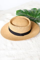 Florence Straw Boater Hat