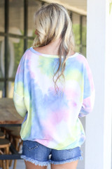 back view oversized pullover at dress up