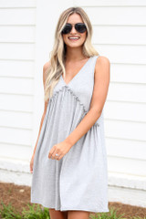 Heather Grey - Front View of the Swing Dress